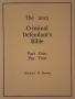 The Criminal Defendant's Bible